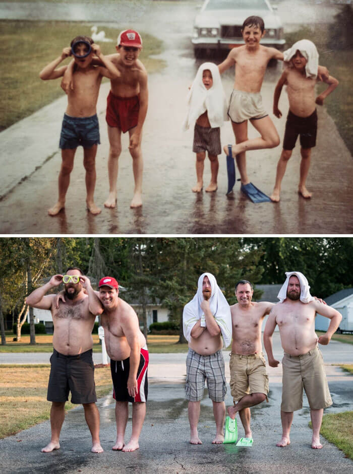 20 Awesome Family Photo Recreations Show That Some Things Never Change