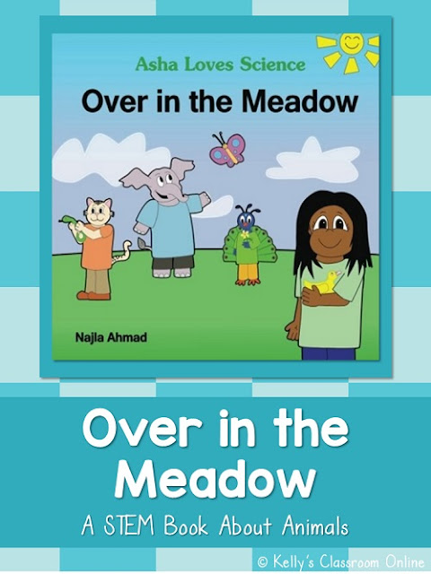 Children can learn fun facts about animals in English and Urdu/Hindi in the children's book Asha Loves Science: Over in the Meadow by Najla Ahmad.