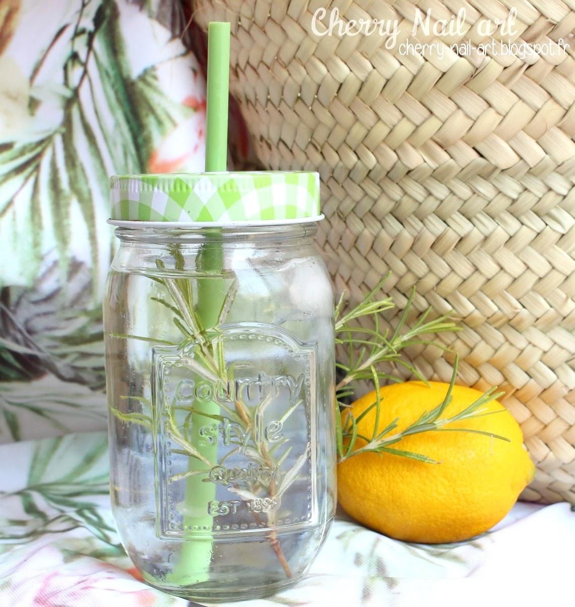 boisson d'été eaux aromatisées