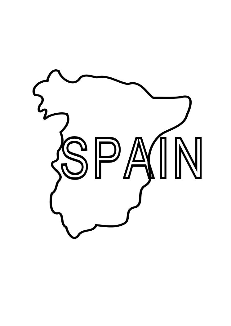 Spain Coloring Page Child