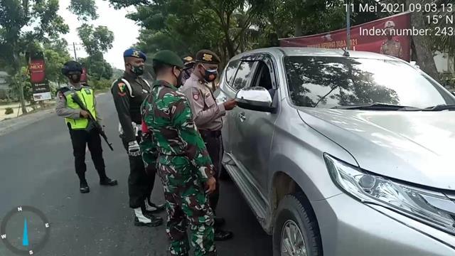 Pos Pam Larangan Mudik, Personel Jajaran Kodim 0208/Asahan Turut Serta Dampingi Dari Dinas Terkait