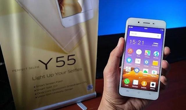 Harga HP VIVO Y55 Kamera Selfie Serta Bodi Logam Menjadi Andalan
