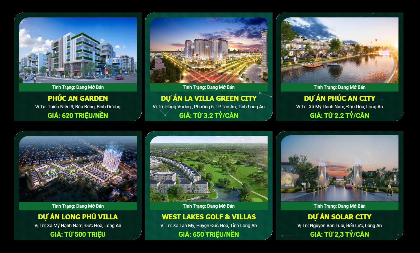 Các dự án của Trần Anh Group