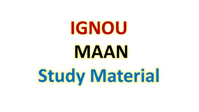 IGNOU MAAN School of Social Sciences Help Books
