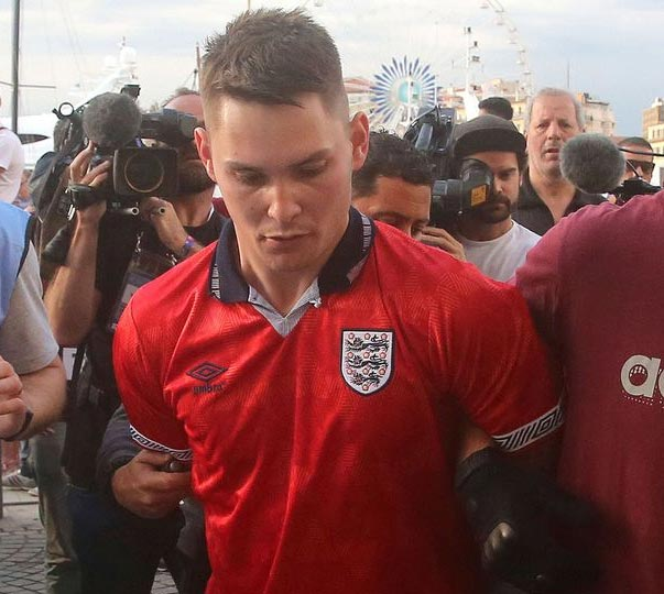 Six England fans sent to prison following Russian clash