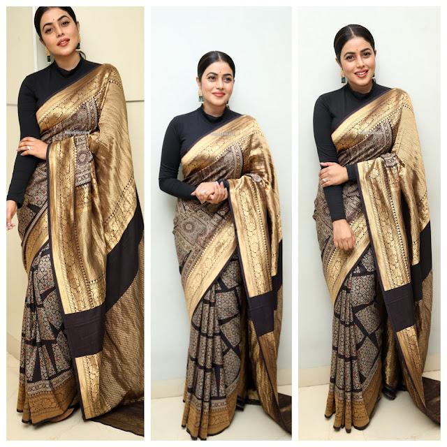 Poorna Black Silk Saree