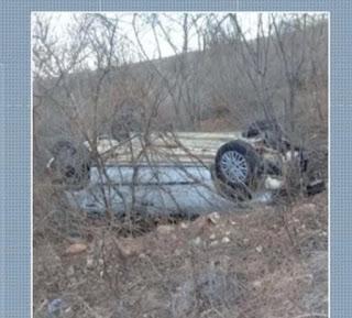 Motorista perde controle do carro, capota e fica ferido no Seridó