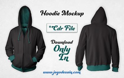 Download Mockup Hoodie Versi CDR Gratis