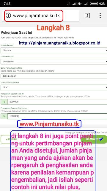 H.Gambar langkah 8 pengajuan pinjaman uang tanpa jaminan via link web promo tunaiku www.Pinjamtunaiku.tk