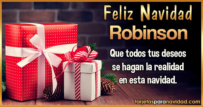 Feliz Navidad Robinson