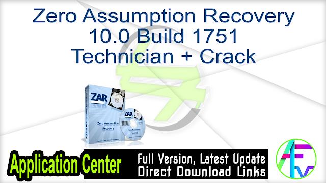 Zero Assumption Recovery 10.0 Build 1751 Technician + Crack