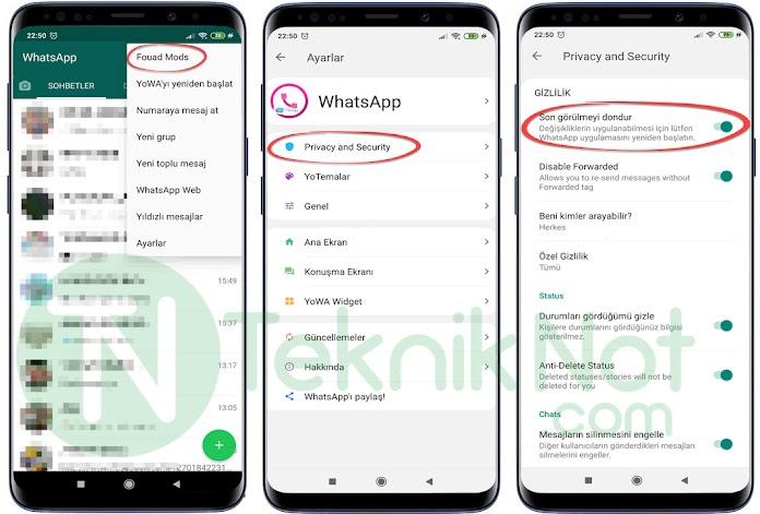 WhatsApp Çevrimiçi Olduğunu Gizleme