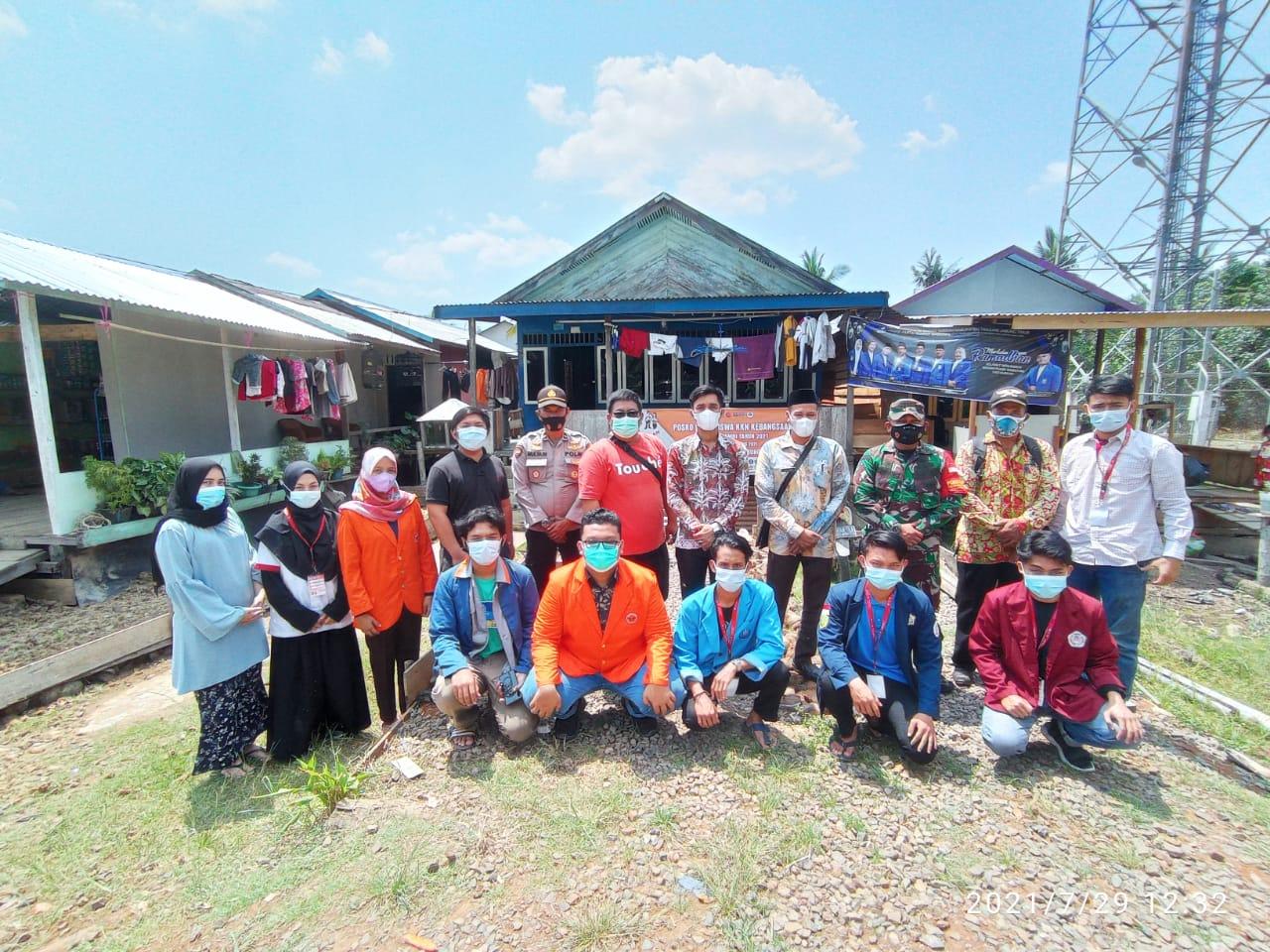 Camat Kuala Jambi dan Forkompincam Support Program Kerja KKN Kebangsaan