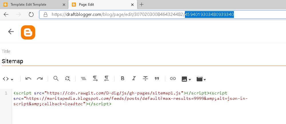 copas kode page sitemap