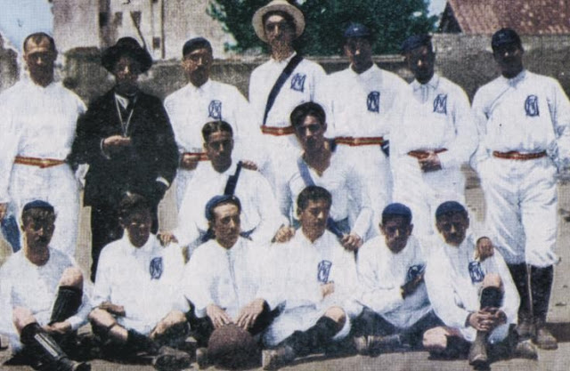 The Real Madrid team of 1902, the year of its foundation.