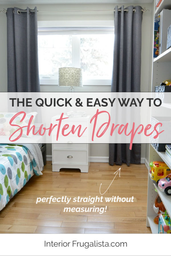 The Quick and Easy Way to Shorten Drapes