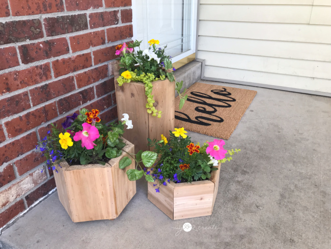 DIY Planters for your porch, MyLove2Create