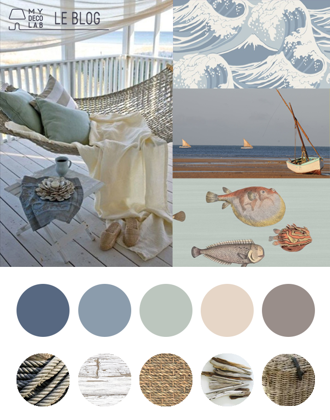 Cr er une ambiance bord de mer blog d co mydecolab for Decoration chambre adulte bord de mer