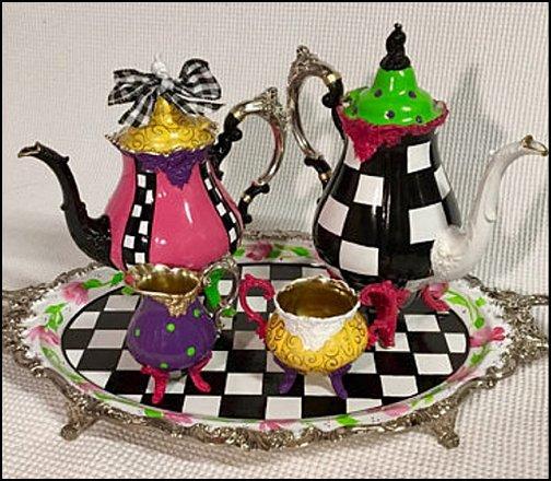 Tea Set Tea Pot Alice in Wonderland Teapot, home decor