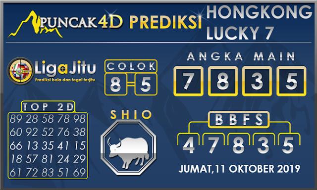 PREDIKSI TOGEL HONGKONG LUCKY7 PUNCAK4D 11 OKTOBER 2019