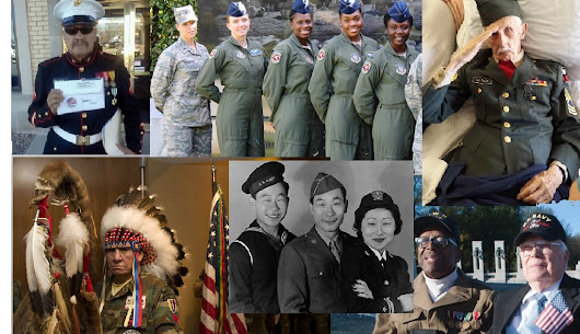 COURAGE KNOWS NO GENDER RACE OR RELIGION THANK YOU UNITED STATES AMERICA MILITARY HAPPY VETERAN'S DAY
