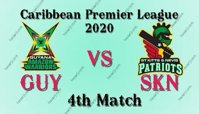 Who will win GUY vs SKN 4th T10I Match