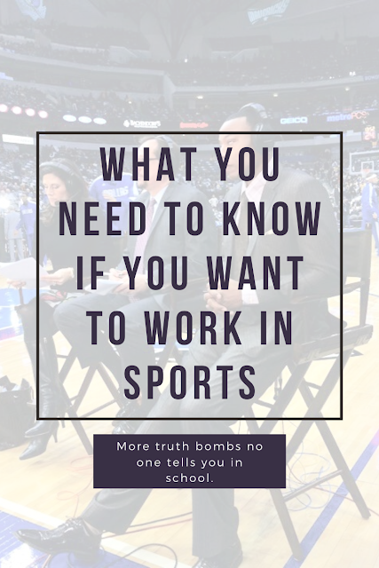 how to get a job in sports