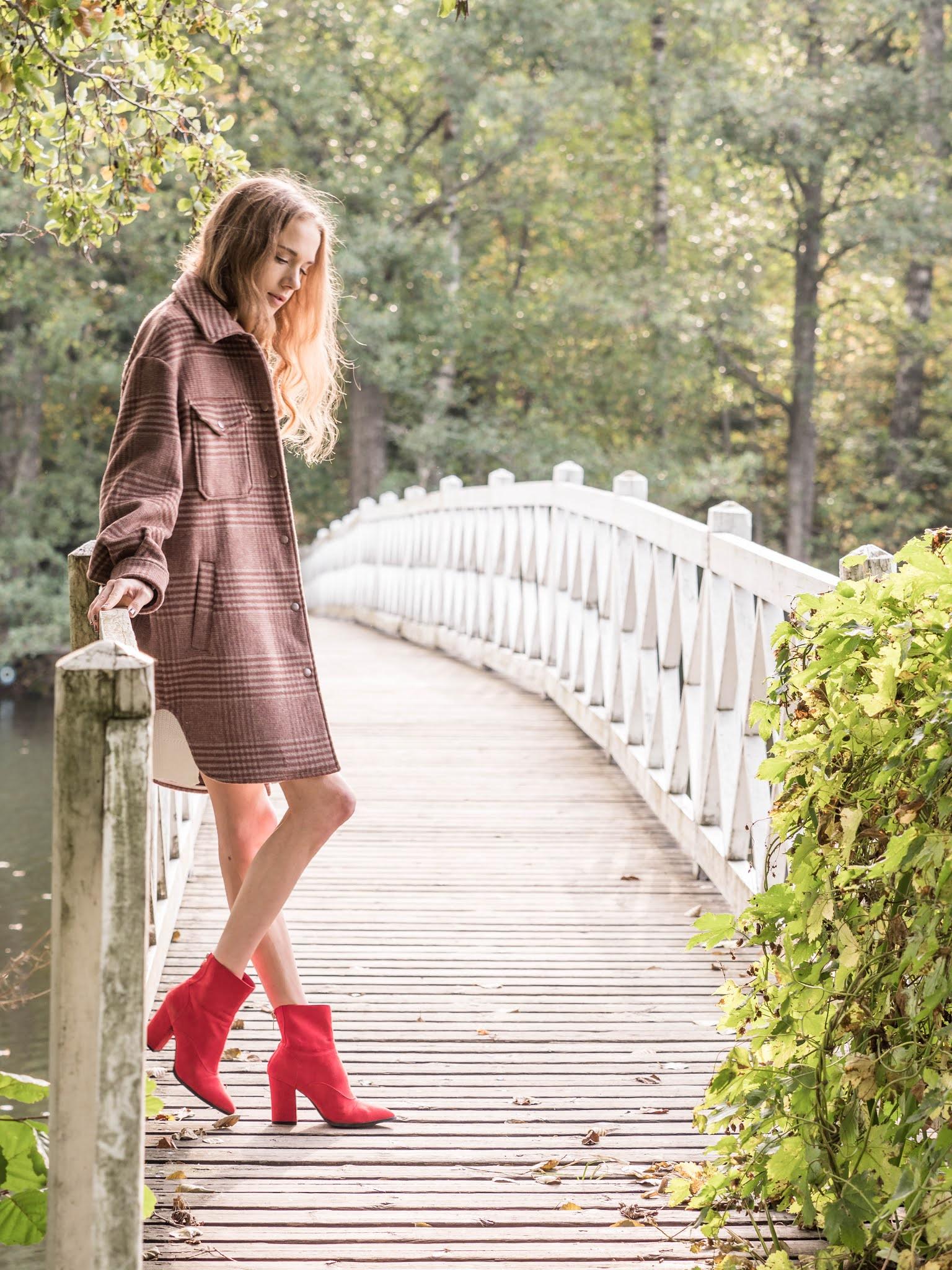 Syyasasu punaisten nilkkureiden kanssa // Autumn outfit with red ankle boots