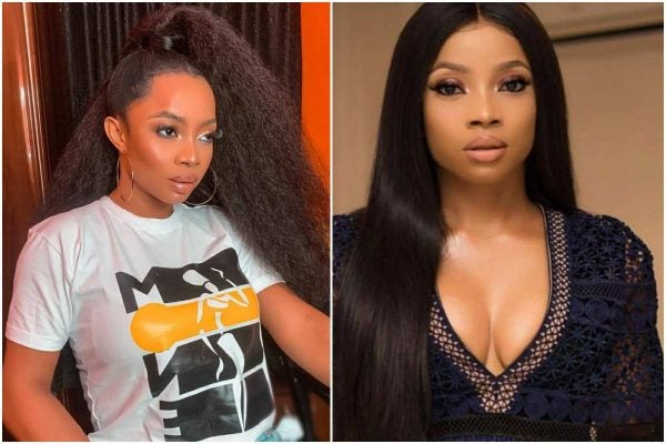 Nigerians accuse Toke Makinwa of staging nvde photo blackmail to trend