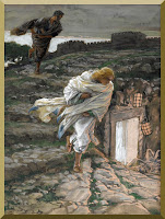 """Saint Peter and Saint John Run to the Sepulchre"" -- by James Tissot- PD-1923"