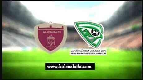 مباراة الوحدة الإماراتي وخورفكان دوري الخليج العربي الاماراتي