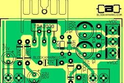 PCB Layout Power Amplifire TDA 2030 Versi standard