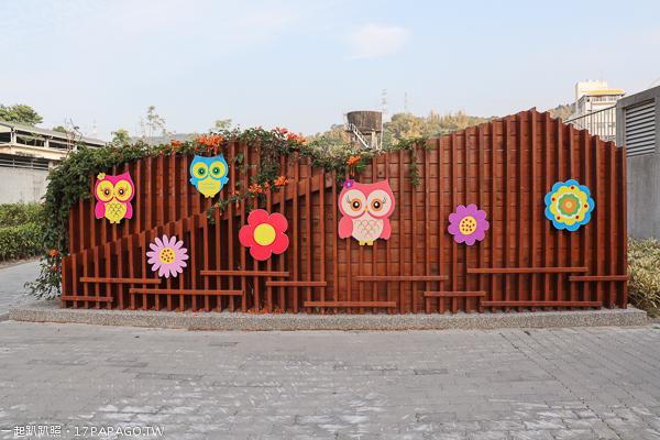 台中霧峰|阿罩霧園區|本堂公園|炮仗花牆|兒童遊樂設施|社區公園