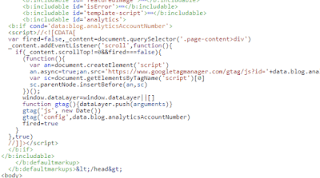 Minify javascript google analytics blogger