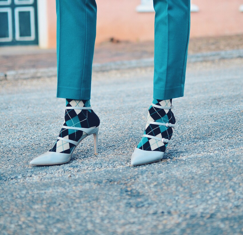 Heels with socks street style