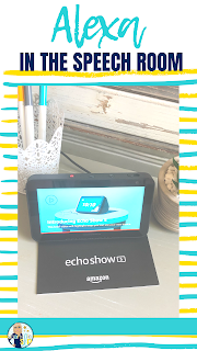 Check out this post with ideas for adding Alexa to your speech room or classroom. Echo Show 5 will be making an appearance in my speech room this year. I can't wait to work on effective communication using this added engaging technology!
