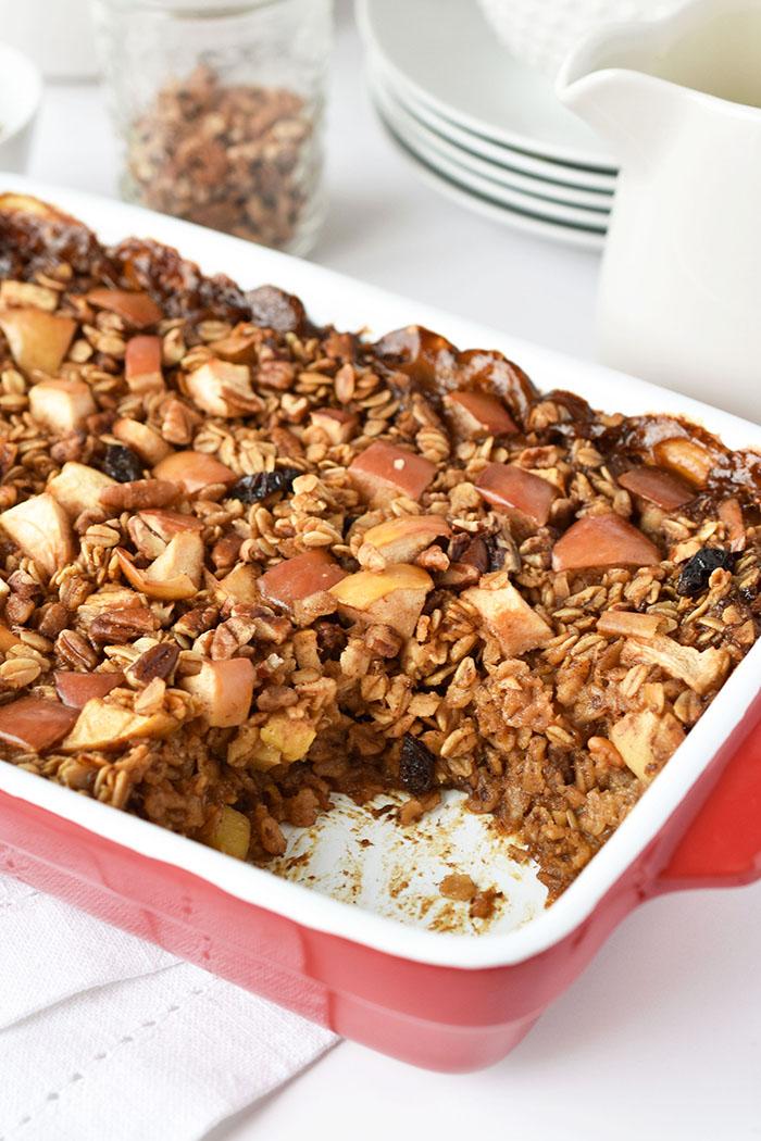 Vegan Baked Oatmeal With Cosmic Crisp Apples