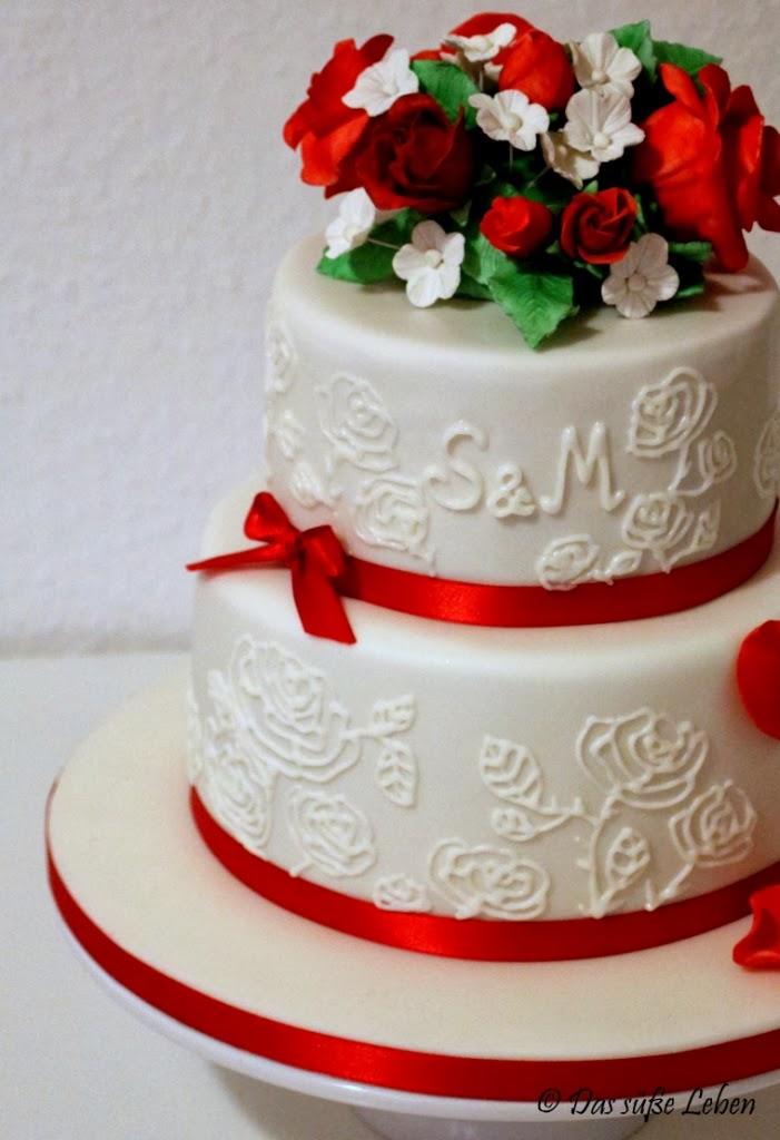 Rezept Kleine Hochzeitstorte in rotwei  Das se Leben