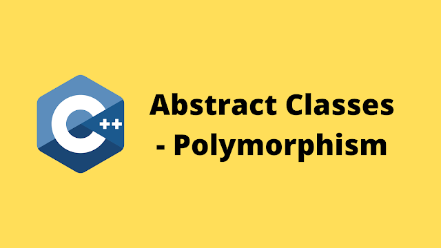 HackerRank Abstract Classes - Polymorphism solution in c++ programming