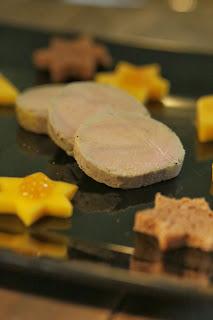 foie gras mi cuit , cuisson sous vide, Noel , mangue , épices