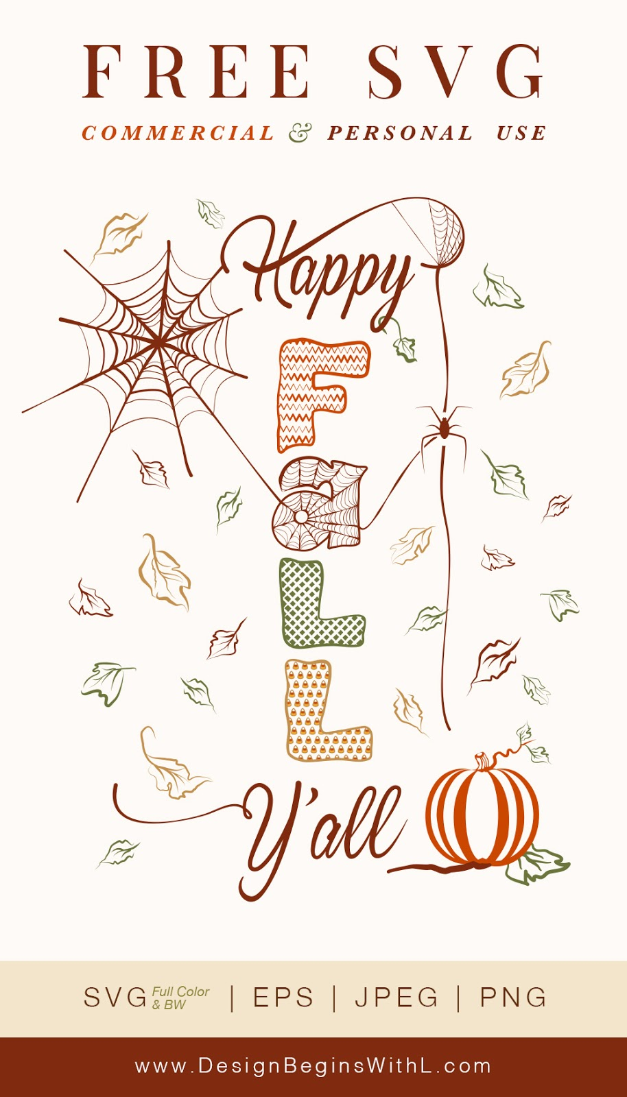 Free Happy Fall Y'all SVG For Commercial Use