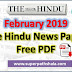 The Hindu Newspaper Pdf Download - February 2019