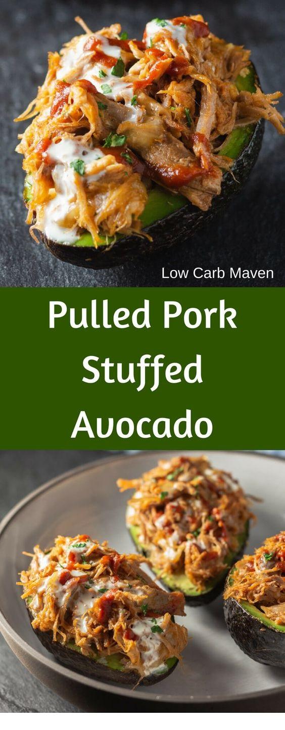 Pulled Pork Stuffed Avocado Boats