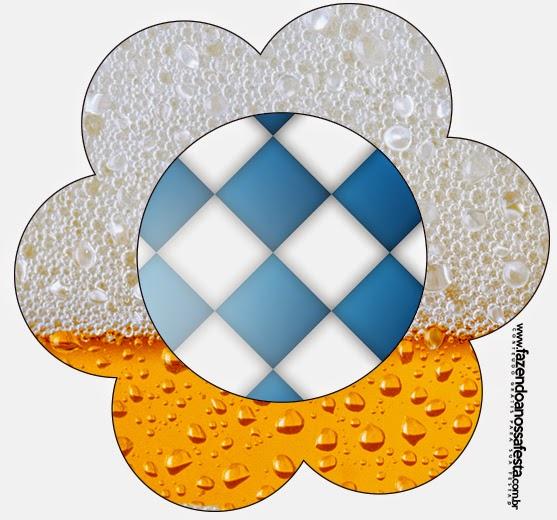 Tarjeta con forma de flor de Fiesta de la Cerveza.