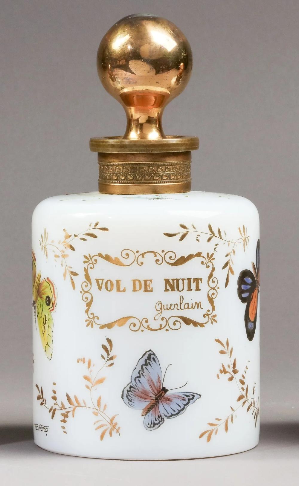 Guerlain perfume bottles designed by R. Noirot for Cristal & Bronze, 1955.