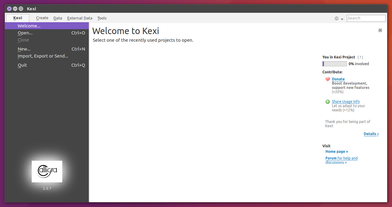 Install Kexi on Ubuntu, An application that allows anyone to easily