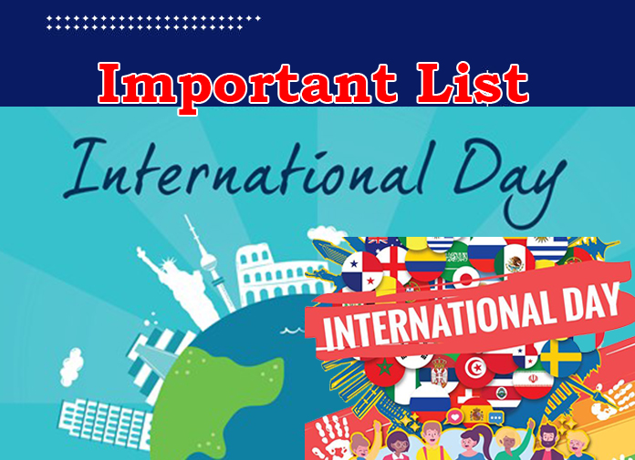 List of International Days in the worlds