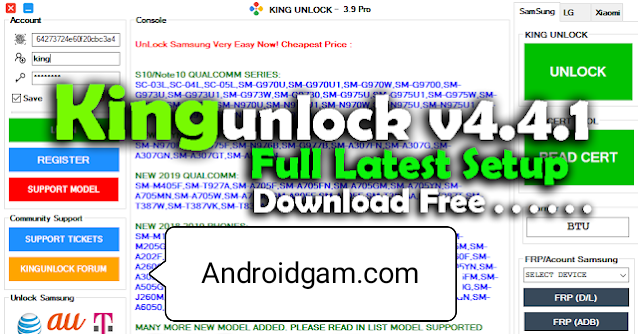 How To Download Kingunlock v4.4.1 Full Setup Unlock Tool 100% Working Latest Update 2020-21 Free Download To AndroidGSM