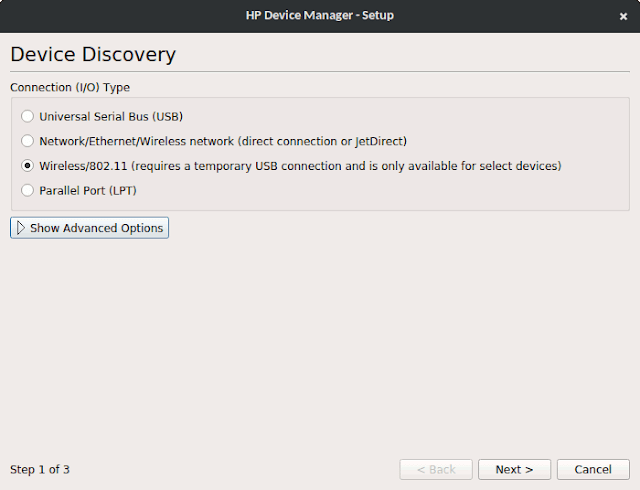 hplip device discovery windows