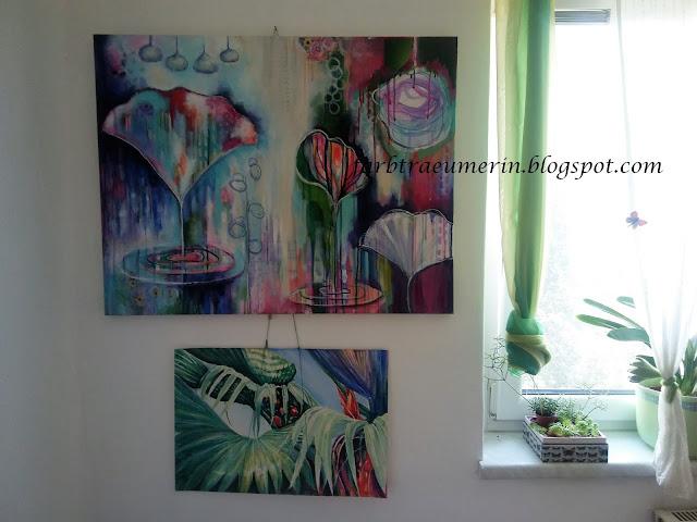 Acrylbilder-malen-Atelier-Einrichtung